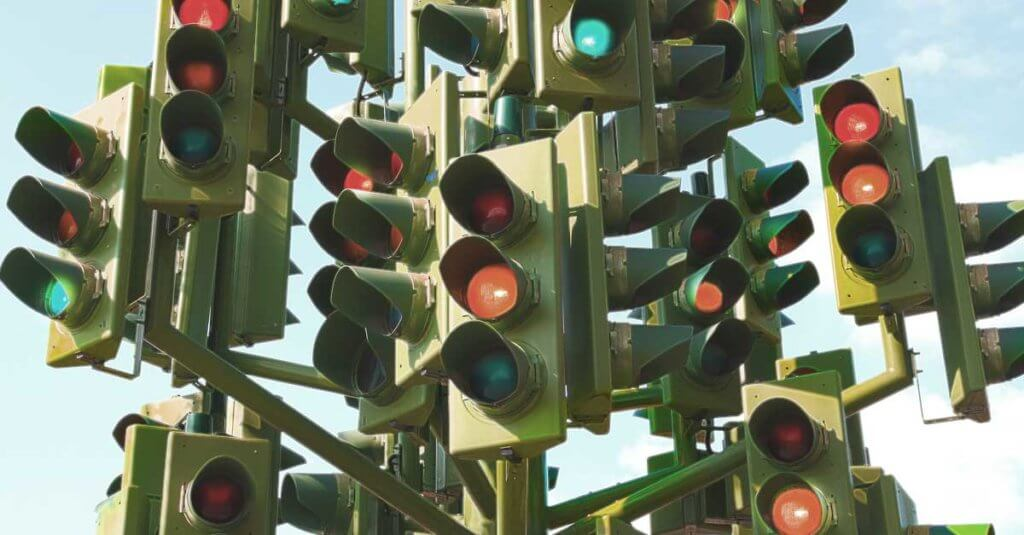 PRA - Portfolio Risk Analyst (Image of a very confusing stoplight with 10+ directional signals)